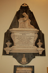 Monument to Mary Pemberton (D1865) by Bennison of Manchester, Great Sankey Church, Warrington, Cheshire
