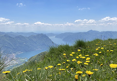 Lake Iseo from the mountains