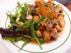 Pork with clams, Snack Bar com Tradicoes, Largo da Liberdade, Estoi.