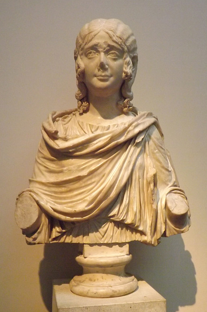 Marble Portrait Bust of a Young Girl Wearing a Wig in the British Museum, May 2014