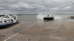 Hovercraft arrives at Ryde ~ Isle Of Wight