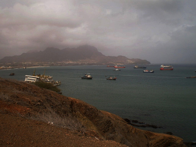 View to the southern part of Mindelo Bay.