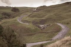 the old road below Mam Tor