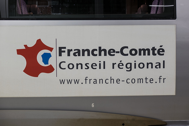 BESANCON: Gare Viotte: Autocolant TER Conseil Régional Franche-Comté. 03