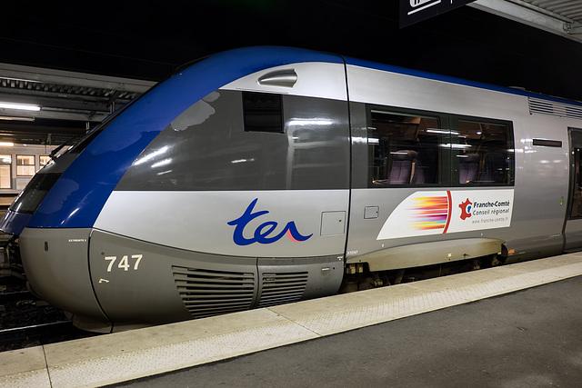 BESANCON: Gare Viotte: Autocolant TER Conseil Régional Franche-Comté. 04