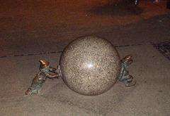 Bronze dwarfs - rolling a sphere.