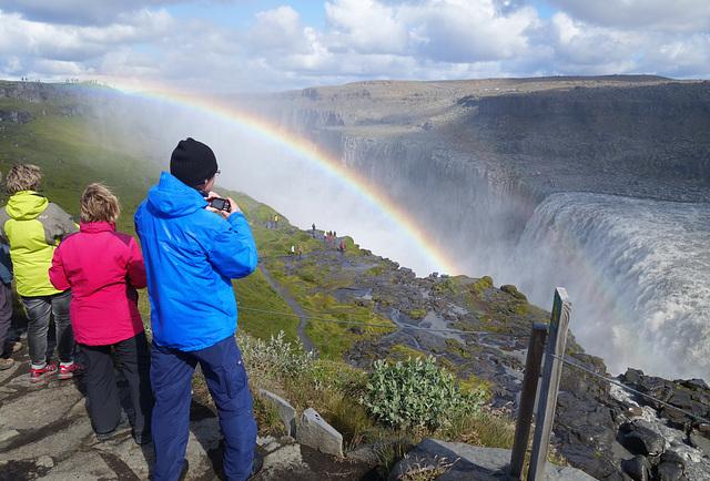 am Dettifoss Wasserfall