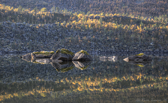 Boulders in Lake Innerdalsvatnet.