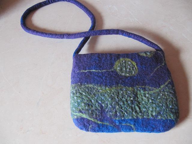 felted girl's handbag