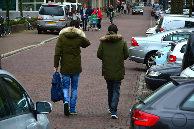 Winter coats in Spring