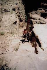 Ascent on donkey.