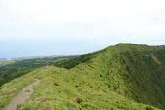 Azores, The Island of Faial, Path on the Ridge of Caldeira