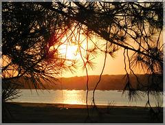 Coucher de soleil à la ville ger (22) au bord de Rance
