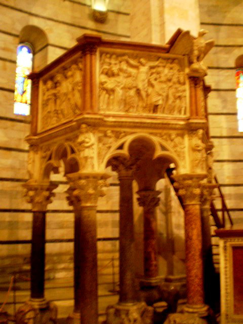 Baptistery's pulpit.