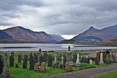 Laid to rest with a view ~ St. John's churchyard ~ Ballachulish ~ Scotland