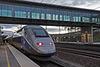 LES AUXONS: Gares BESANCON Franche-Comté: Départ du TGV  6880 pour Strasbourg.