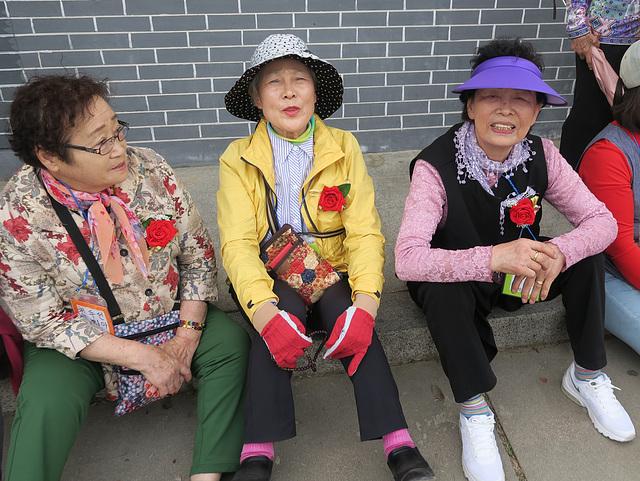 Coréennes de Busan en balade, Etang de Wolji (Corée du Sud)