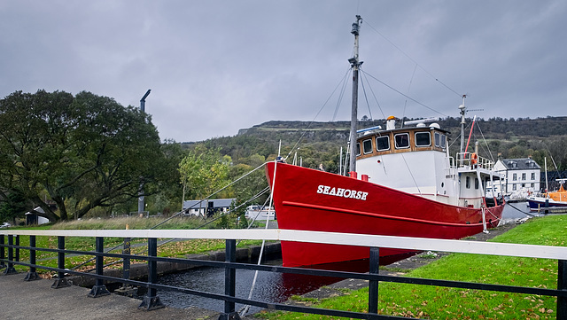 MV 'Seahorse' on the Forth and Clyde Canal