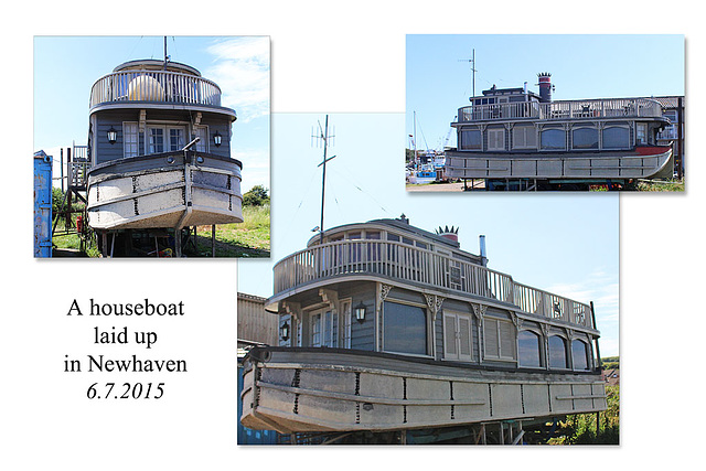 Steamer-type houseboat - Newhaven - 6.7.2015