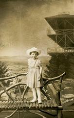 Little Girl with High Rock Backdrop, Pen Mar, Maryland