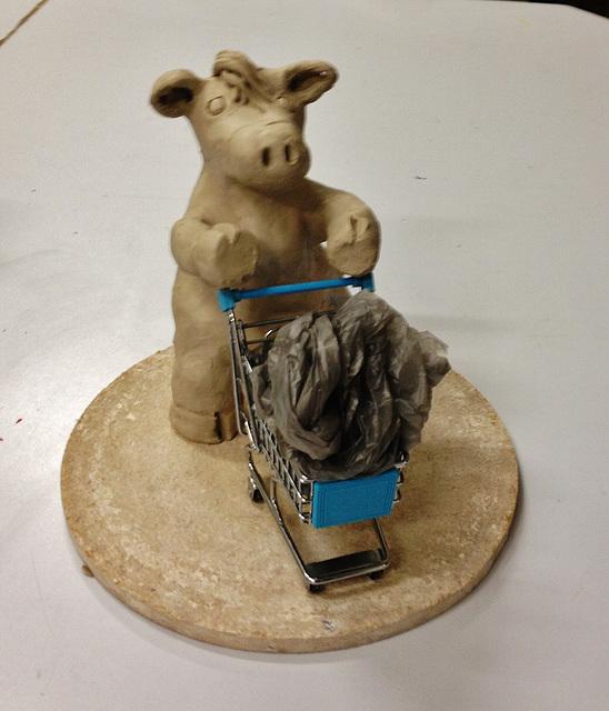 supermarket cow