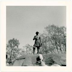 General Warren Statue at Little Roundtop, Gettysburg, Pa.