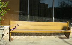 .. the signing bench downtown
