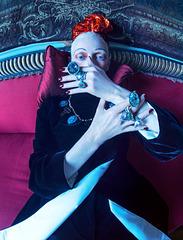 Tilda Swinton as Edith Sitwell.