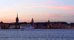SE - Stockholm - Sonnenuntergang über der Altstadt