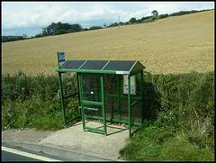 Dorset green bus shelter
