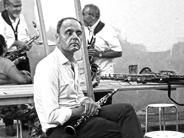 La pausa dei musicisti