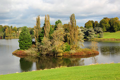 An island in the lake at Blenheim Palace