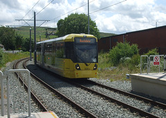 DSCF0459 Manchester Metrolink car set 3083 at Newhey - 4 Jul 2016