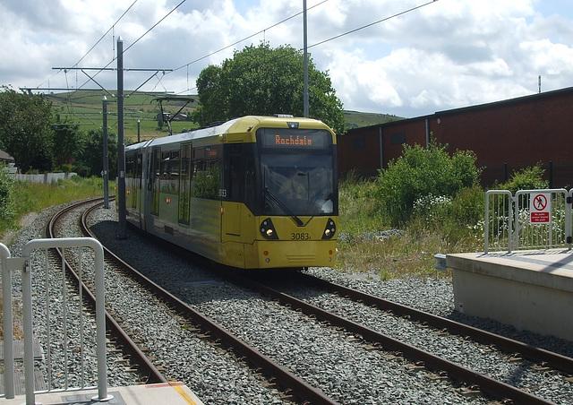 DSCF0459 Manchester Metrolink car set 3083 at Newhey - 4 Jul 2016