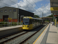 DSCF0460 Manchester Metrolink car set  3083 at Newhey - 4 Jul 2016