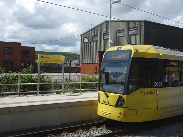 DSCF0461 Manchester Metrolink car set 3083 at Newhey - 4 Jul 2016