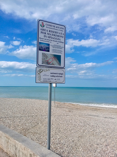 Fano 2017 – Area reserved for beach weddings