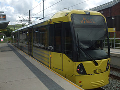DSCF0463 Manchester Metrolink car set 3010 at Newhey - 4 Jul 2016