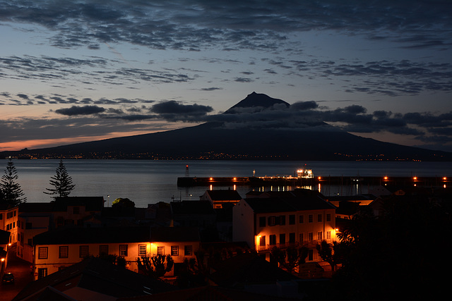 Azores, Sunrise over the Volcano of Pico