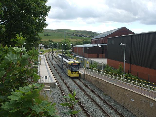 DSCF0464 Manchester Metrolink car set 3025 at Newhey - 4 Jul 2016