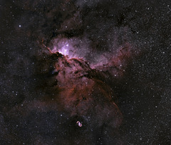Fighting Dragons Of Ara Panorama NGC6188