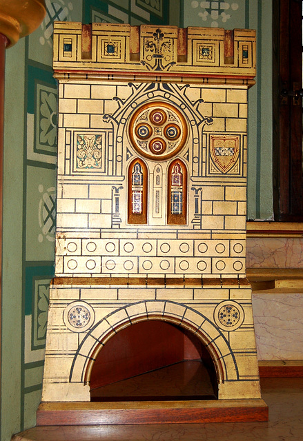 Detil of Washstand, Lady Bute's Bedroom, Castell Coch, Glamorgan, Wales