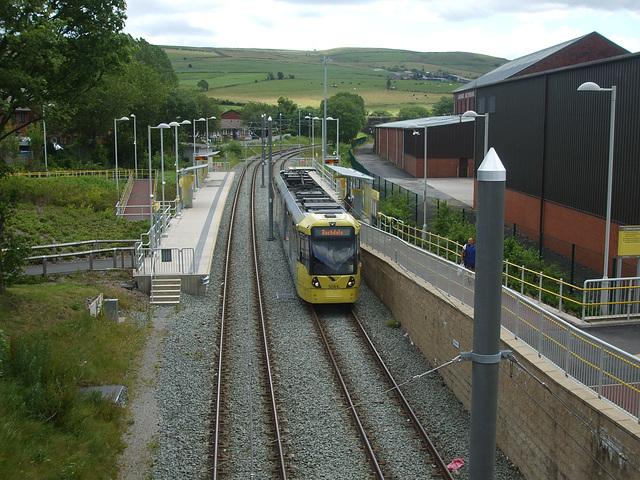 DSCF0466 Manchester Metrolink car set 3025 at Newhey - 4 Jul 2016
