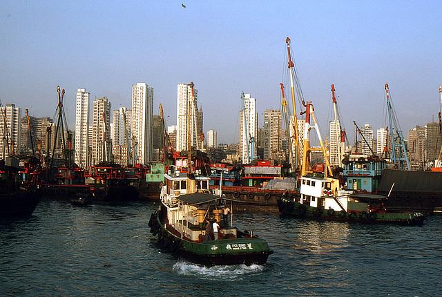 Hafenfeeling in Kowloon 1981
