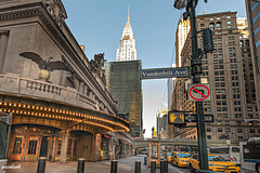 Vanderbilt Ave,  Grand Central Terminal , the Chrysler Building .(menwile quarentine time)