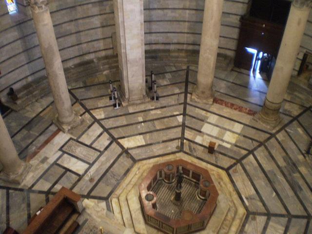 Inside Pisa Baptistery.