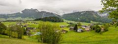 Blick auf Schwarzenberg, Bregenzerwald (Panorama)
