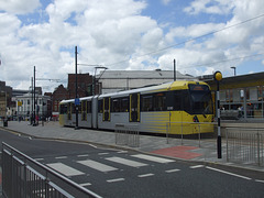 DSCF0482 Manchester Metrolink car set 3080 at Rochdale - 4 Jul 2016