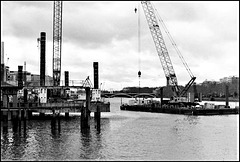 Dredging near Battersea.
