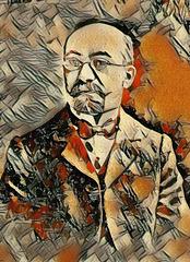 D-ro Zamenhof (kvazaŭ)pentrita en la stilo de Picasso